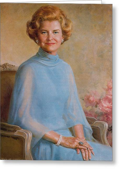 Betty Ford, First Lady Greeting Card by Science Source