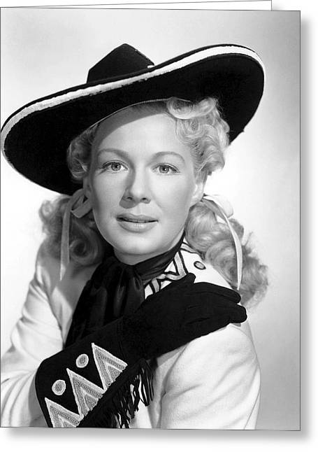 Leading Lady Greeting Cards - Betty Hutton Actress Greeting Card by Daniel Hagerman