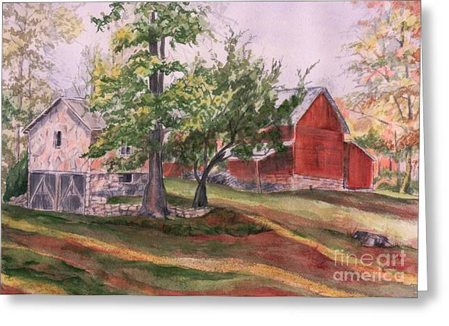 Recently Sold -  - Tennessee Farm Greeting Cards - Bettys Barn Greeting Card by Janet Felts