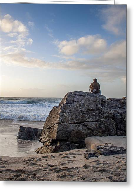 Sand Man Greeting Cards - Between a Rock and a Nice place. Greeting Card by Kieran Brimson