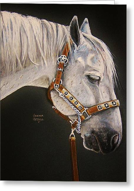 Horse Art Pastels Greeting Cards - Between Classes Greeting Card by Heather Gessell