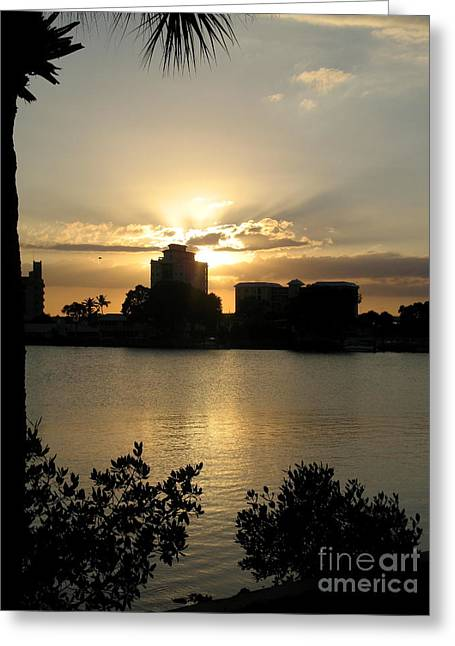 Between Day And Night Greeting Card by Christiane Schulze Art And Photography