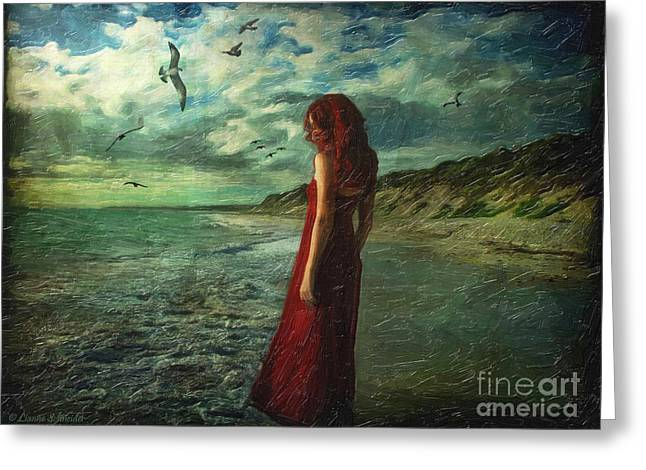 Between Sea And Shore Greeting Card by Lianne Schneider