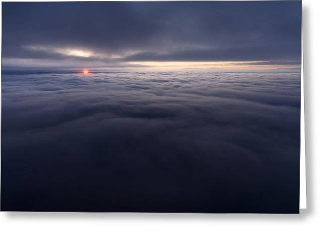Recently Sold -  - Southern Utah Greeting Cards - Between the Clouds Greeting Card by Dustin  LeFevre