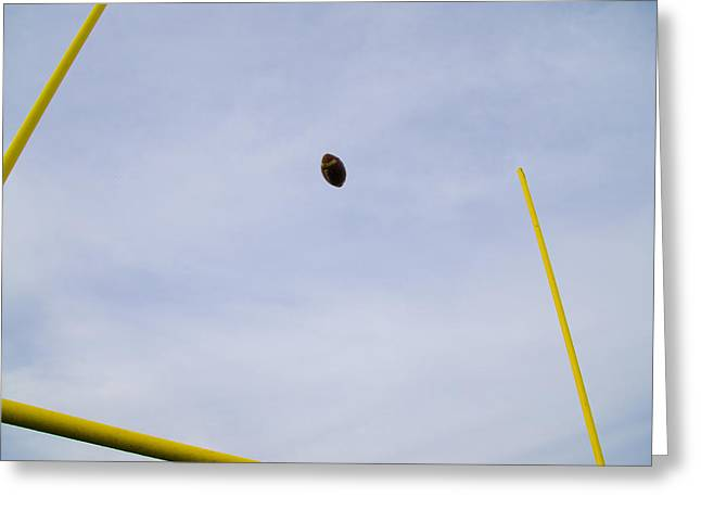 Field Goal Greeting Cards - Between the Posts Greeting Card by Bill Cannon