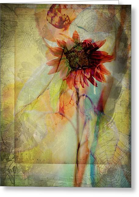 Word Portrait Greeting Cards - Between The Webs  Greeting Card by Jerry Cordeiro