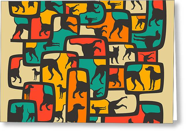 Dogs Digital Art Greeting Cards - Between Worlds Greeting Card by Jazzberry Blue