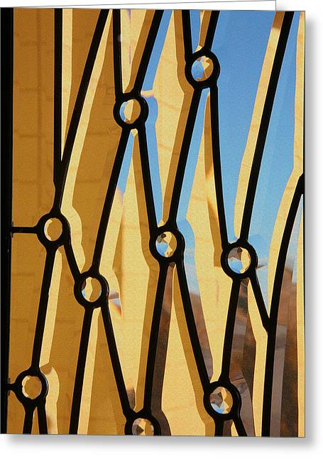 Geometric Style Greeting Cards - Beveled Abstract Greeting Card by Mike Flynn