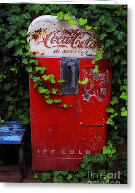 Austin Texas - Coca Cola Vending Machine - Luther Fine Art Greeting Card by Luther   Fine Art