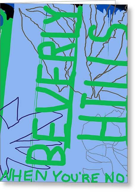 Critique Digital Art Greeting Cards - Beverly HIlls Greeting Card by Jesse McCrum