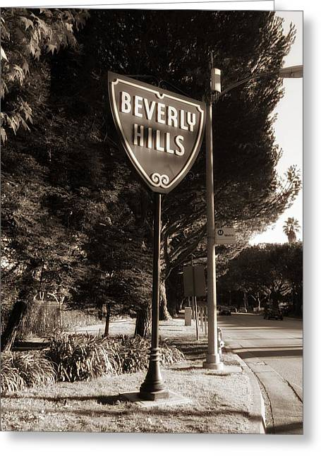 Beverly Greeting Cards - Beverly Hills Greeting Card by Mountain Dreams