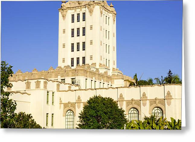 Beverly Hills Police Station Greeting Card by Paul Velgos