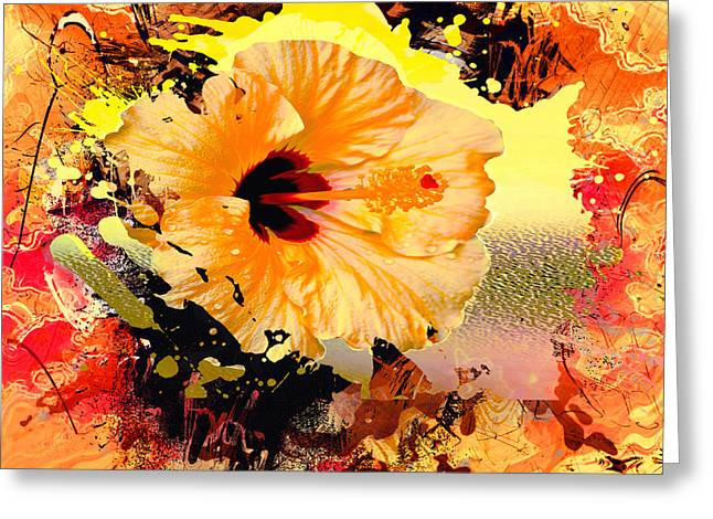 Photograph Of Peaches Greeting Cards - Bevs Splash of Color Greeting Card by Beverly Guilliams
