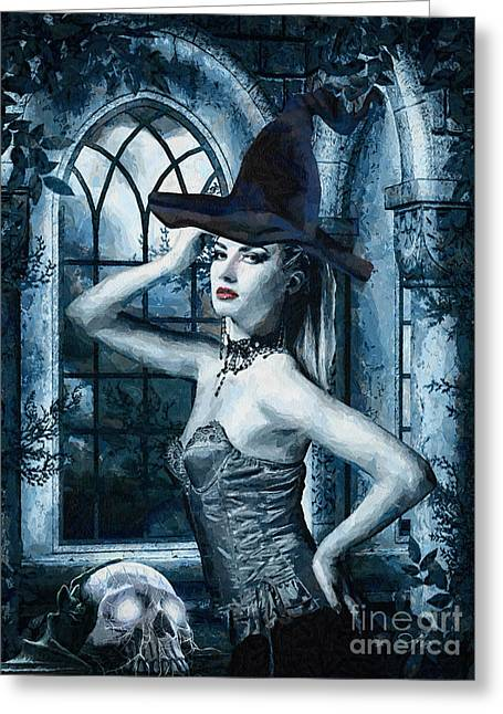 Bewitched Greeting Cards - Bewitched Greeting Card by Mo T