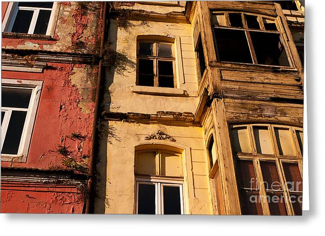 Beyoglu Old Houses 01 Greeting Card by Rick Piper Photography