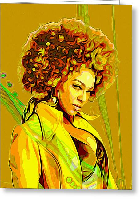 Woman Head Prints Greeting Cards - Beyonce 2 Greeting Card by  Fli Art