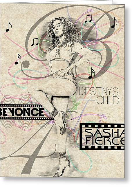 Sasha Greeting Cards - Beyonce Greeting Card by Anibal Diaz