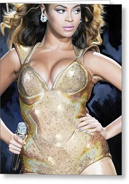 Beyonce Greeting Cards - Beyonce Artwork Greeting Card by Sheraz A