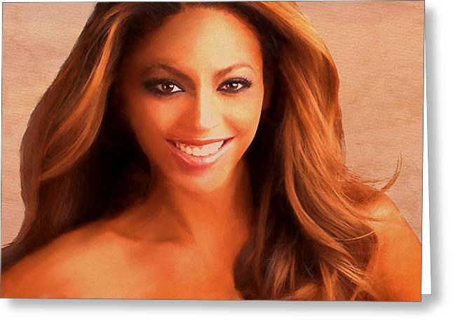 Award Digital Art Greeting Cards - Beyonce Greeting Card by Dennis Wickerink