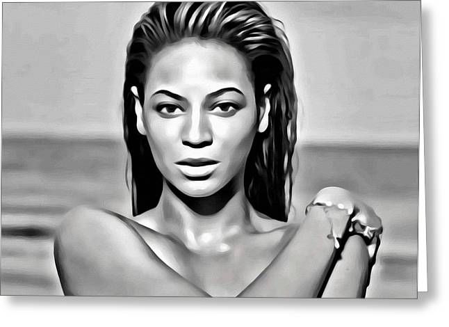 Sasha Greeting Cards - Beyonce Greeting Card by Florian Rodarte