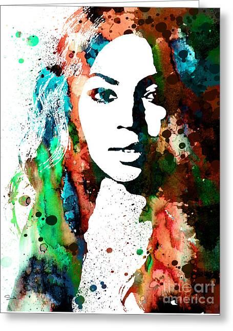Beyonce Greeting Cards - Beyonce Greeting Card by Luke and Slavi