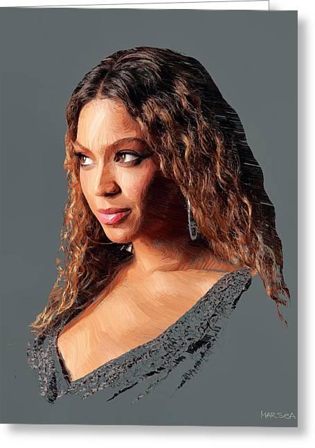 Beyonce Greeting Cards - Beyonce Greeting Card by Marina Likholat