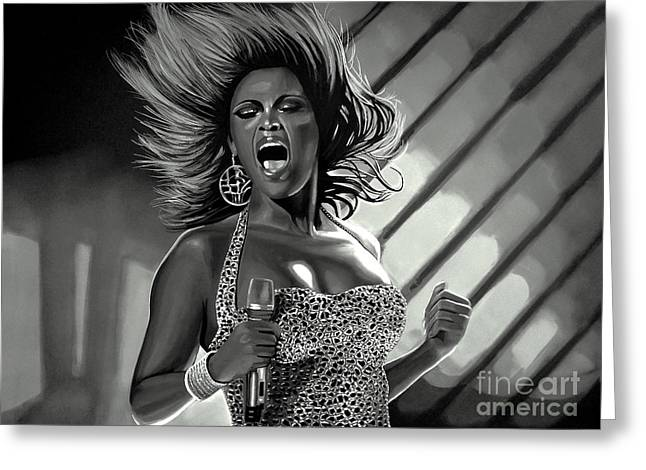 Amy Artwork Greeting Cards - Beyonce Greeting Card by Meijering Manupix
