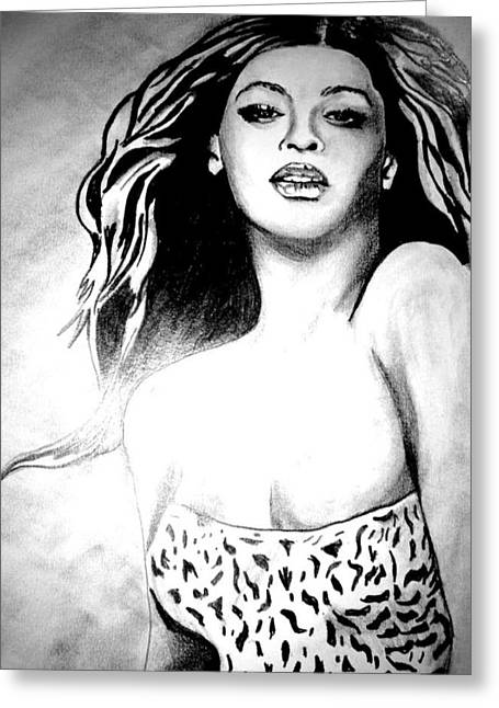 Beyonce Greeting Card by Pauline Murphy