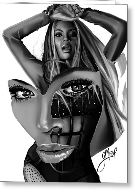 Beyonce Greeting Cards - Beyonce... Pieces Greeting Card by George Mozel