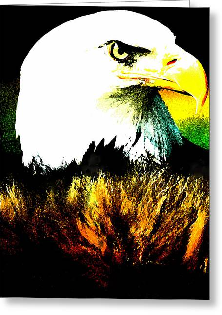 print Paintings Greeting Cards - Beyond Eagle View Greeting Card by Colette V Hera  Guggenheim