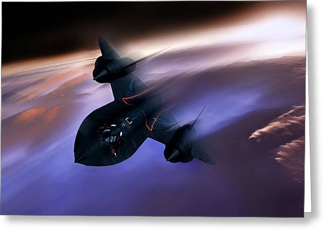 Beyond Mach 3 Greeting Card by Peter Chilelli