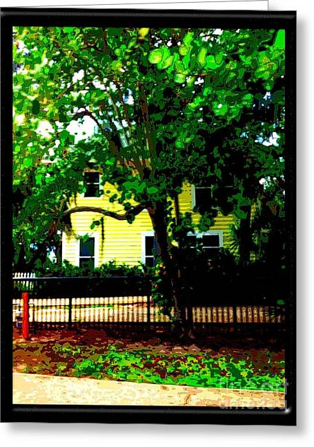 Color Enhanced Greeting Cards - Beyond The Fence Greeting Card by Caroline Gilmore