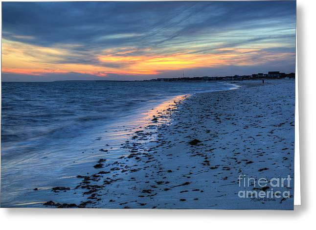 Beyond The Gilded Sunset Greeting Card by Michelle Wiarda