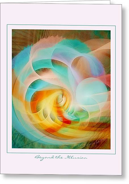 Graphic Digital Art Pastels Greeting Cards - Beyond the Illusion Greeting Card by Gayle Odsather