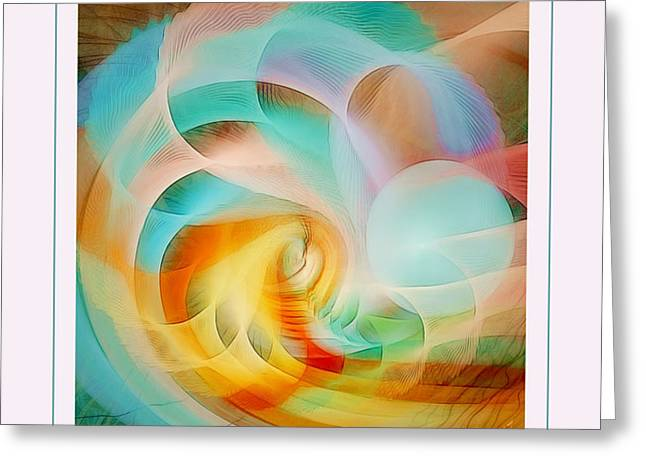 Beyond the Illusion Greeting Card by Gayle Odsather