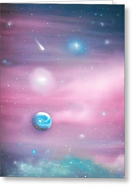 Beyond The Milky Way Greeting Card by Ricky Haug