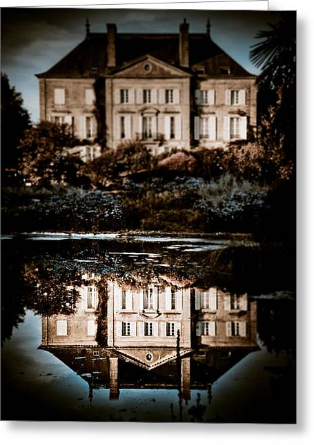 Chateau Greeting Cards - Beyond the Mirror Greeting Card by Loriental Photography