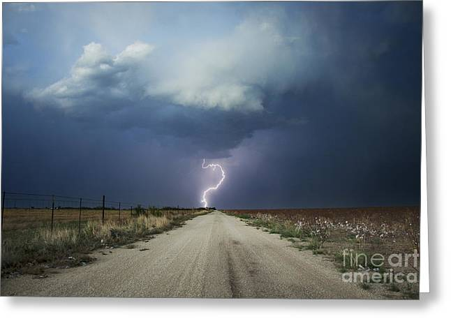 Lightning Photographer Greeting Cards - Beyond The Open Road Greeting Card by Ryan Smith