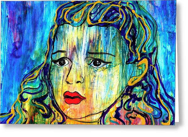 Pop Mixed Media Greeting Cards - Beyond the Rain Greeting Card by D Renee Wilson
