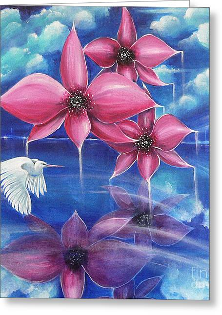Flying Orchid Greeting Cards - Beyond the Rainbow Greeting Card by Susi Galloway