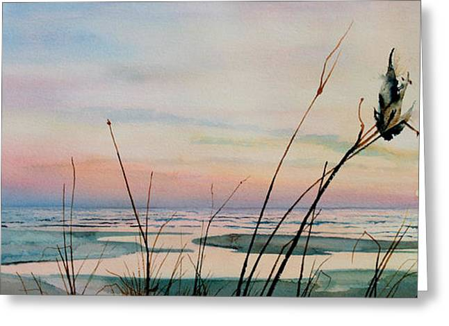 Ocean Art. Beach Decor Greeting Cards - Beyond The Sand Greeting Card by Hanne Lore Koehler