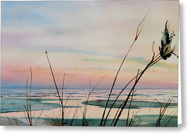 Sand Dunes Paintings Greeting Cards - Beyond The Sand Greeting Card by Hanne Lore Koehler