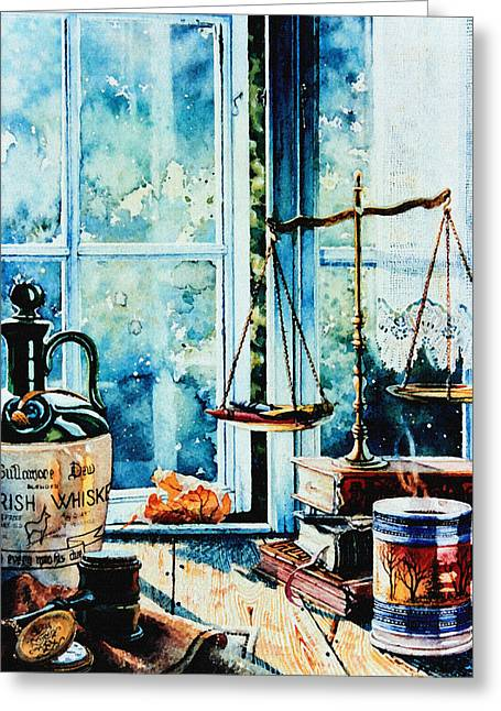 Doubting Paintings Greeting Cards - Beyond The Shadow Of Doubt Greeting Card by Hanne Lore Koehler