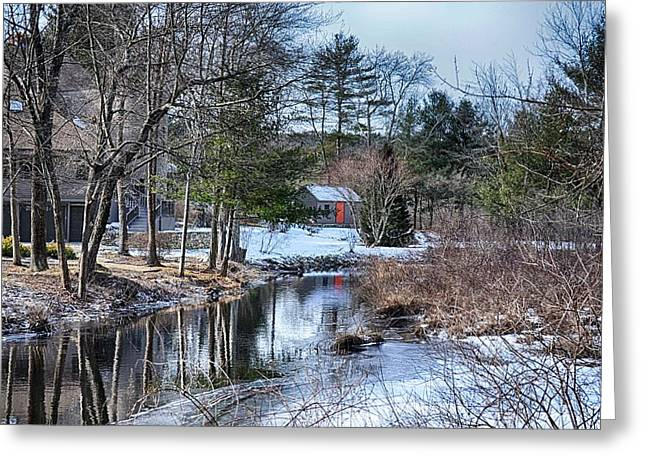 Shed Digital Greeting Cards - Beyond The Stream Greeting Card by Tricia Marchlik
