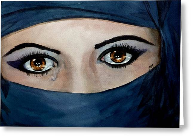 Jihad Greeting Cards - Beyond the Veil Greeting Card by Michal Madison