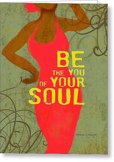 Romaine Digital Art Greeting Cards - BeYou Greeting Card by Romaine Head