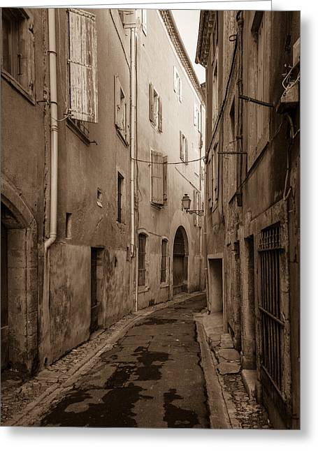 Languedoc Greeting Cards - Beziers Backstreet Greeting Card by W Chris Fooshee