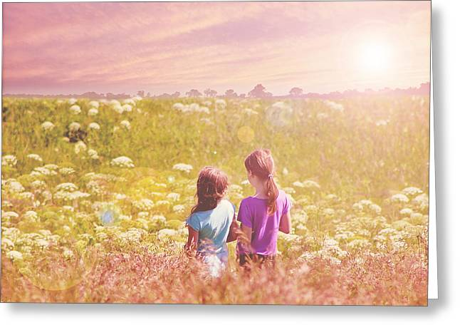 Friends Forever Greeting Cards - Bff Greeting Card by Linda Lees