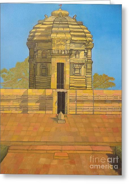 Nandi Greeting Cards - Bhaskareshwar- Shiva Temple Greeting Card by Pratyasha Nithin