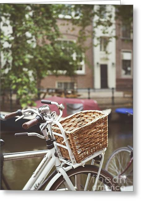 Greeting Cards - Bicycle Greeting Card by Ivy Ho